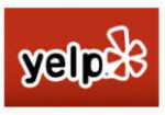 Yelp logo - square red back 200 x 200